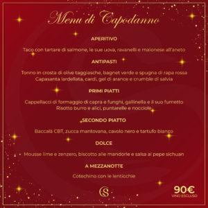 menu di pesce Capodanno 2020
