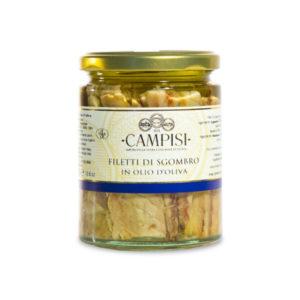 filetti di sgombro in vetro sott'olio Campisi Conserve